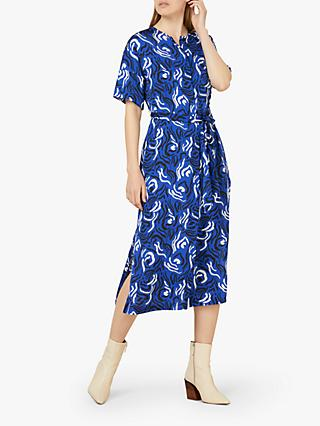 Finery Lizzie Abstract Utility Dress, Purple/Multi