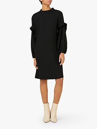 Finery Jaelynn Ruffle Detail Long Sleeve Dress