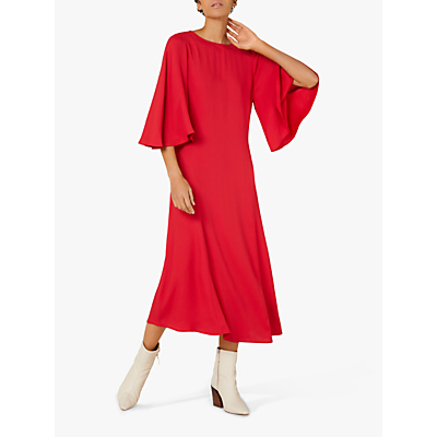 Finery Nadia Wide Sleeve Dress, Red