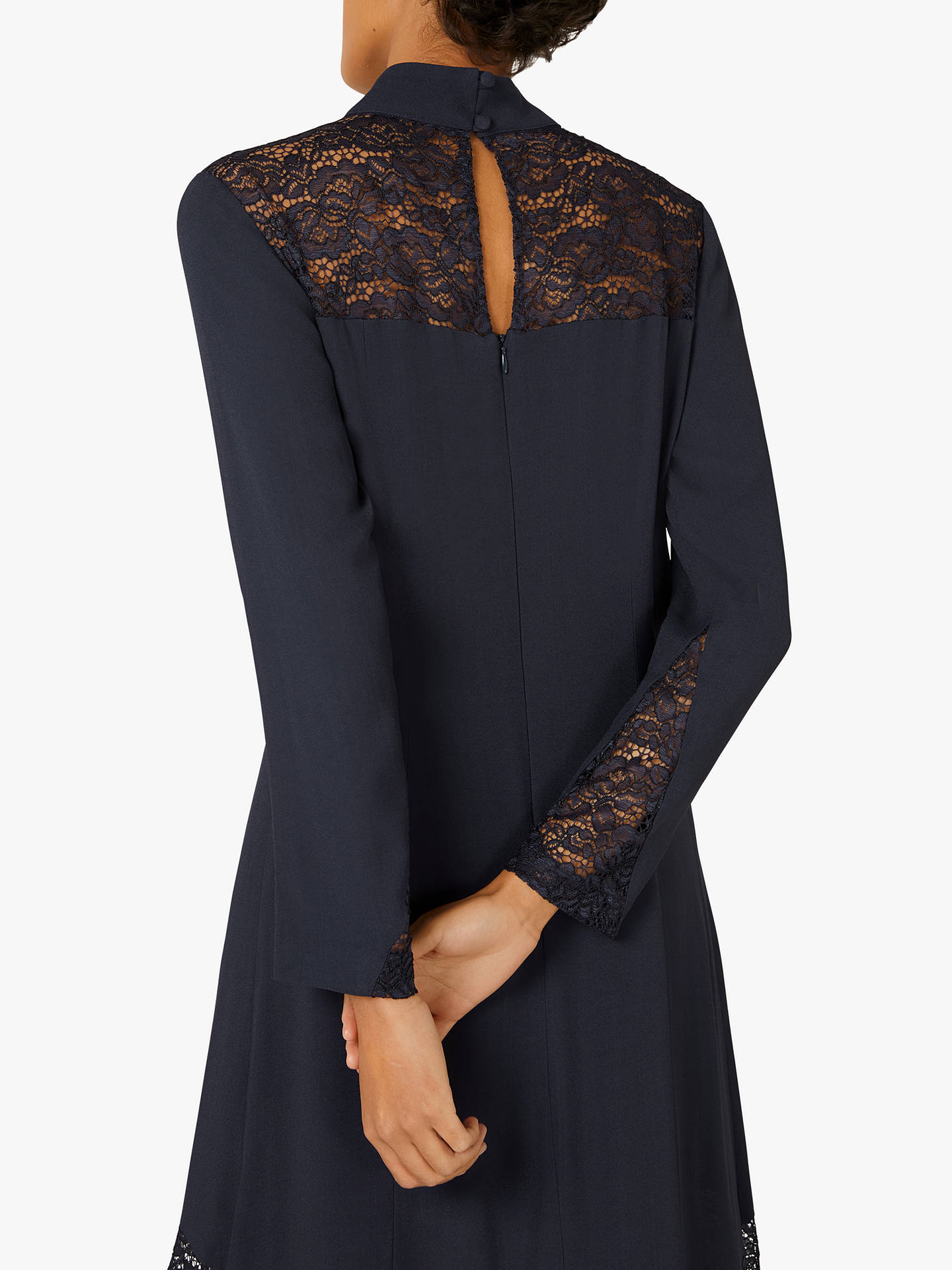 Buy Finery Beladonia Lace Midi Dress, Navy, 12 Online at johnlewis.com