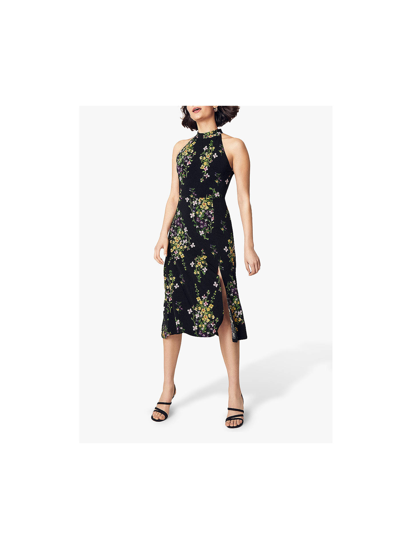 7888334997a6 Buy Oasis Flower Bunch Midi Dress, Multi/Black, XS Online at johnlewis.