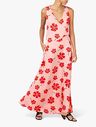 Finery Katrina V Neck Maxi Floral Dress, Multi