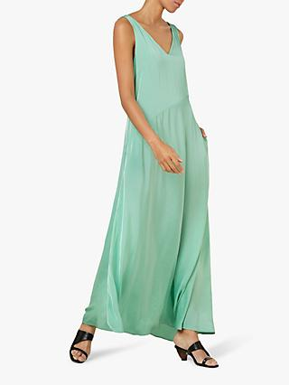 Finery Katrina V Neck Maxi Dress, Jade