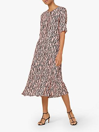 Finery Libby Animal Print Dress, Pink