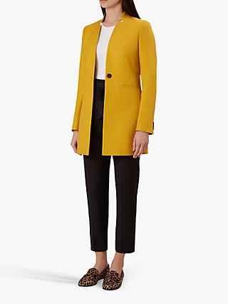 Hobbs Elysia Tailored Coat, Golden Yellow