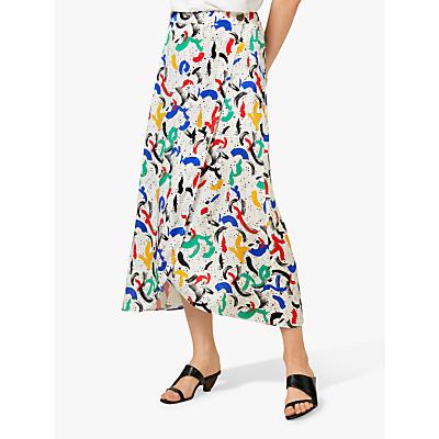 Finery Eve Paint Print Skirt, Multi