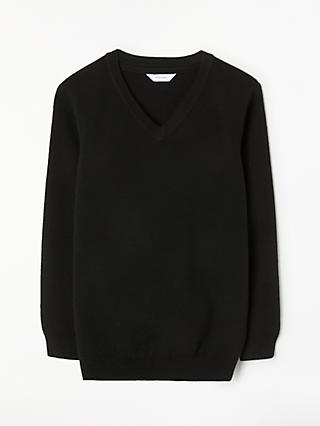 John Lewis & Partners Unisex School V-Neck Jumper