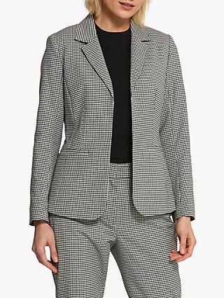 Helen McAlinden Tara Gingham Jacket, Black/White