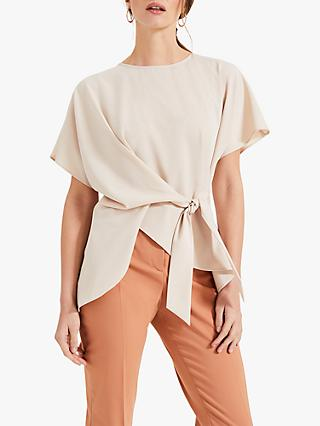 Phase Eight Warna Wrap Blouse, Stone
