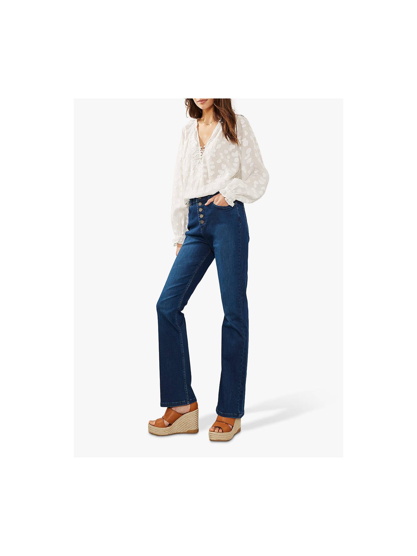 a5ad924c0fb Buy Mint Velvet Bellflower Bootcut Jeans, Blue, 6L Online at johnlewis.com  ...