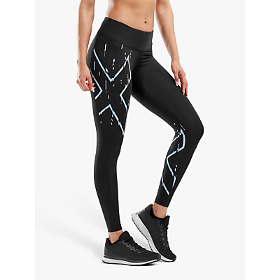 2XU Printed Mid-Rise Compression Training Tights