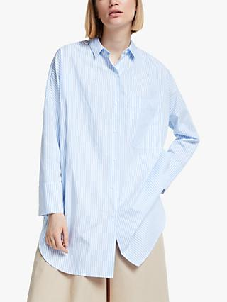 Kin Stripe Cotton Poplin Shirt, Blue