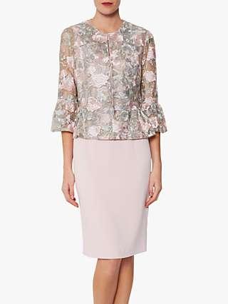 Gina Bacconi Eliette Bolero, Grey/Pink