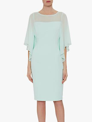 Gina Bacconi Nilani Cape Sleeve Dress