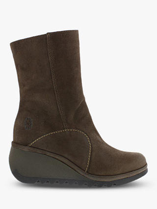 Buy Fly London Norto88Fly Leather Calf Boots, Grey, 4 Online at johnlewis.com