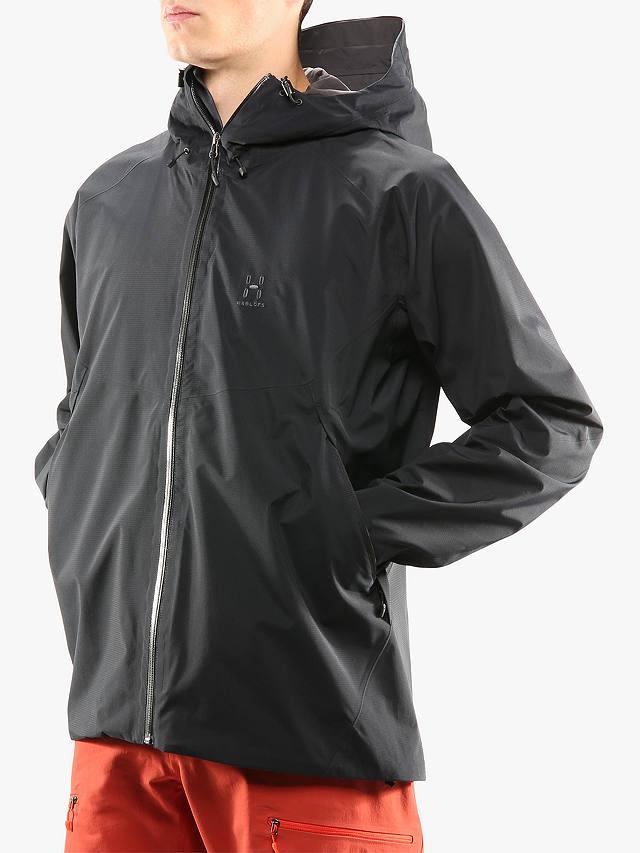 Haglöfs Virgo Men's Waterproof Gore-Tex Jacket, True Black ...