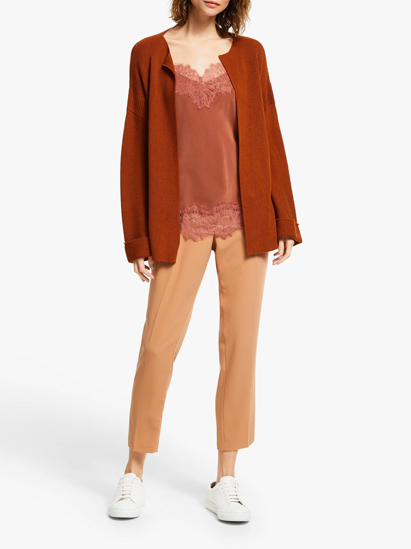 Buy Modern Rarity Silk Lace Cami Top, Rust, 12 Online at johnlewis.com