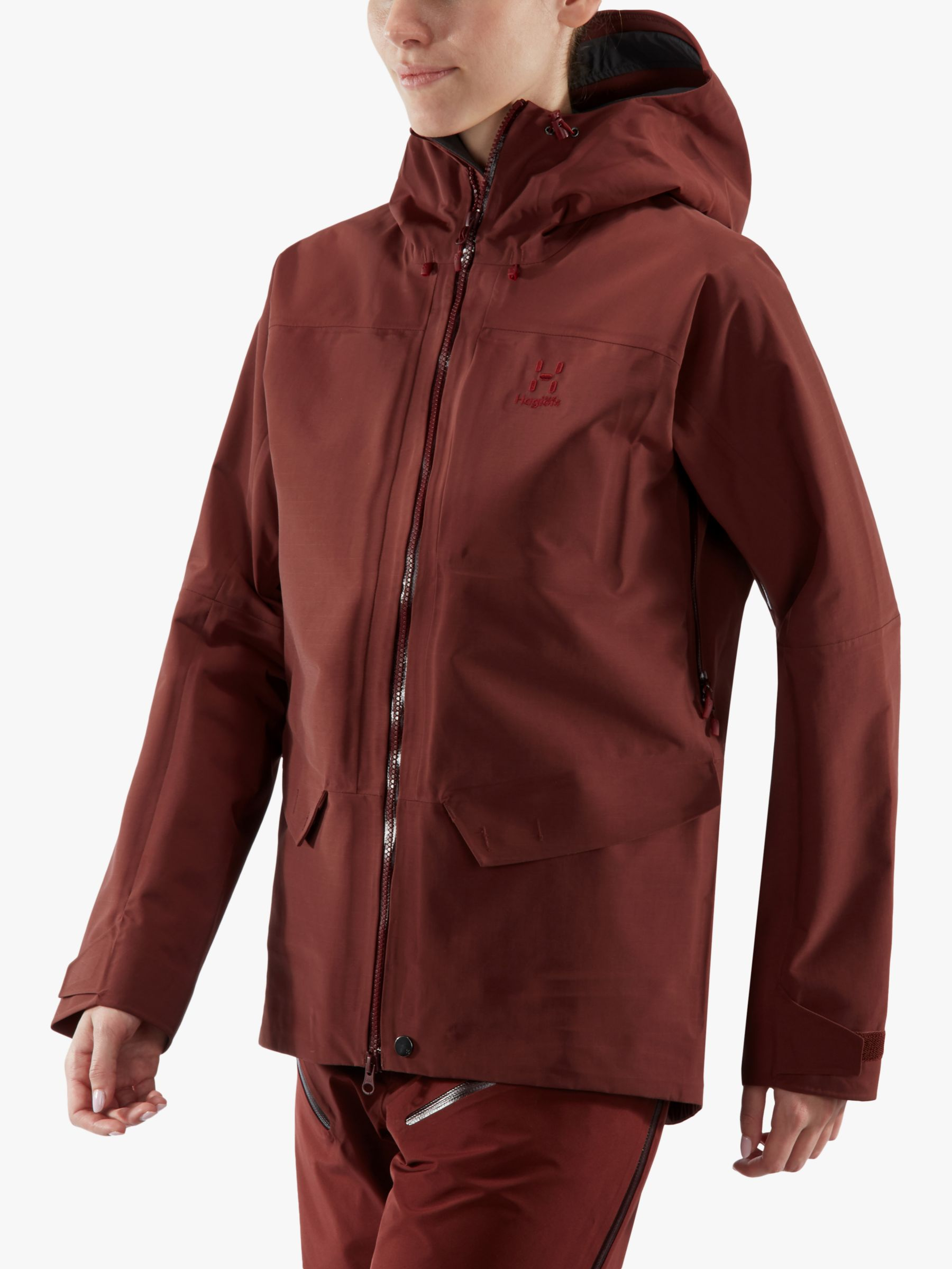 Haglofs Haglöfs Grym Evo Women's Waterproof Jacket, Maroon Red