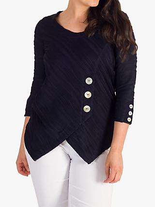 chesca Wavy Line Top, Navy