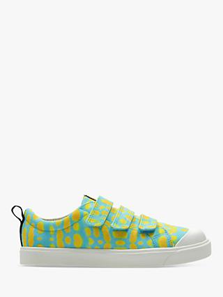 Clarks x National Geographic Children's City Geo Canvas Shoes, Blue Combi