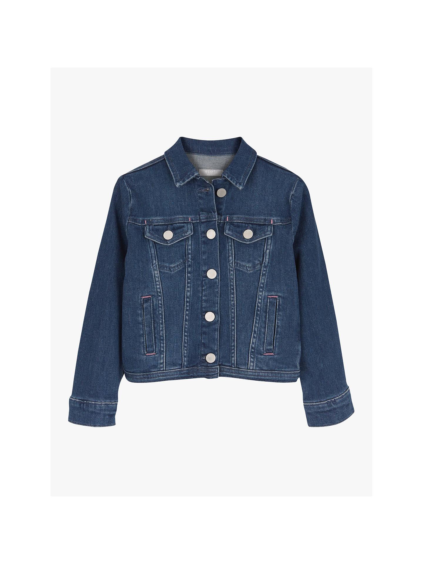 34cfc50b Mintie by Mint Velvet Girls' Authentic Denim Jacket, Blue