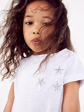 Mintie by Mint Velvet Girls' Star Print T-Shirt, Ivory
