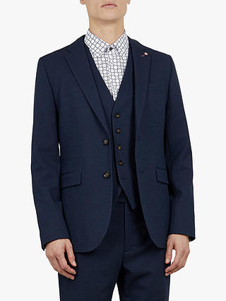 Buy Ted Baker Gorkwai Waistcoat, Navy Blue, XS Online at johnlewis.com