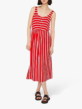 459314e1078 Warehouse Stripe Button Midi Dress