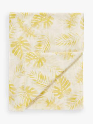 Pure Collection Silk-Blend Floral Printed Scarf, Yellow