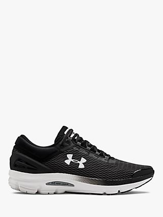 Under Armour Charged Intake 3 Men's Running Shoes, Black/White