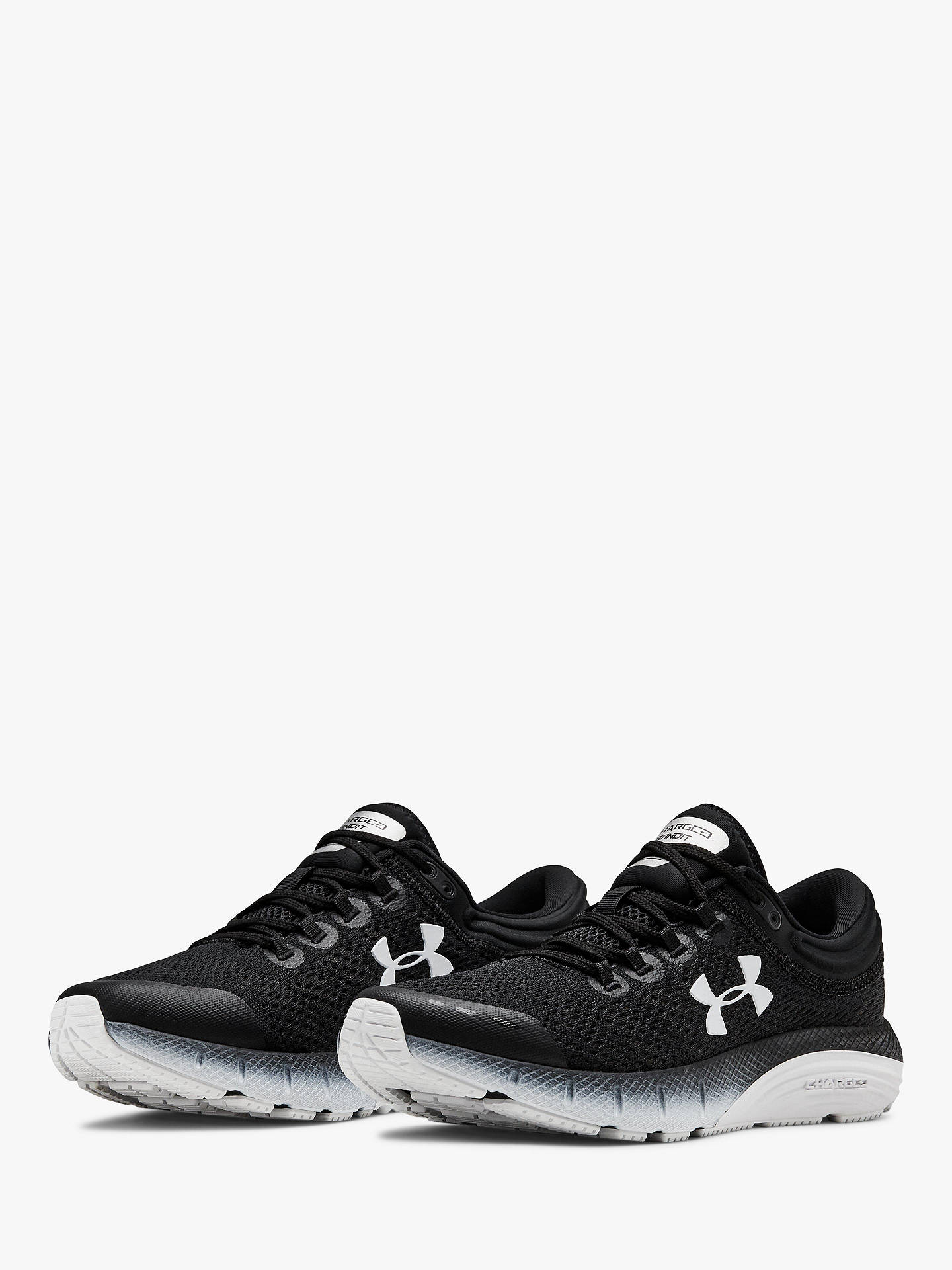 official photos 93508 e71eb Under Armour Charged Bandit 5 Women's Running Shoes, Black/White