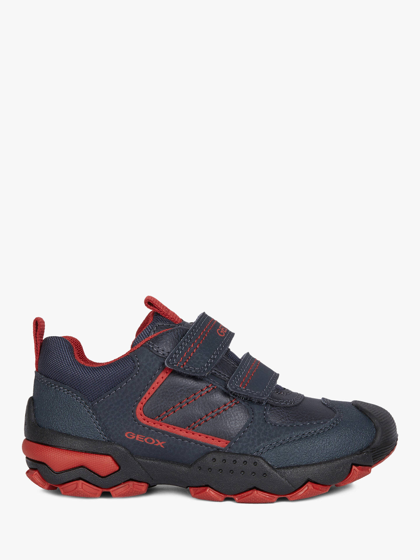 performance sportswear super specials authentic quality Geox Children's Buller Shoes, Navy/Dark Red at John Lewis ...