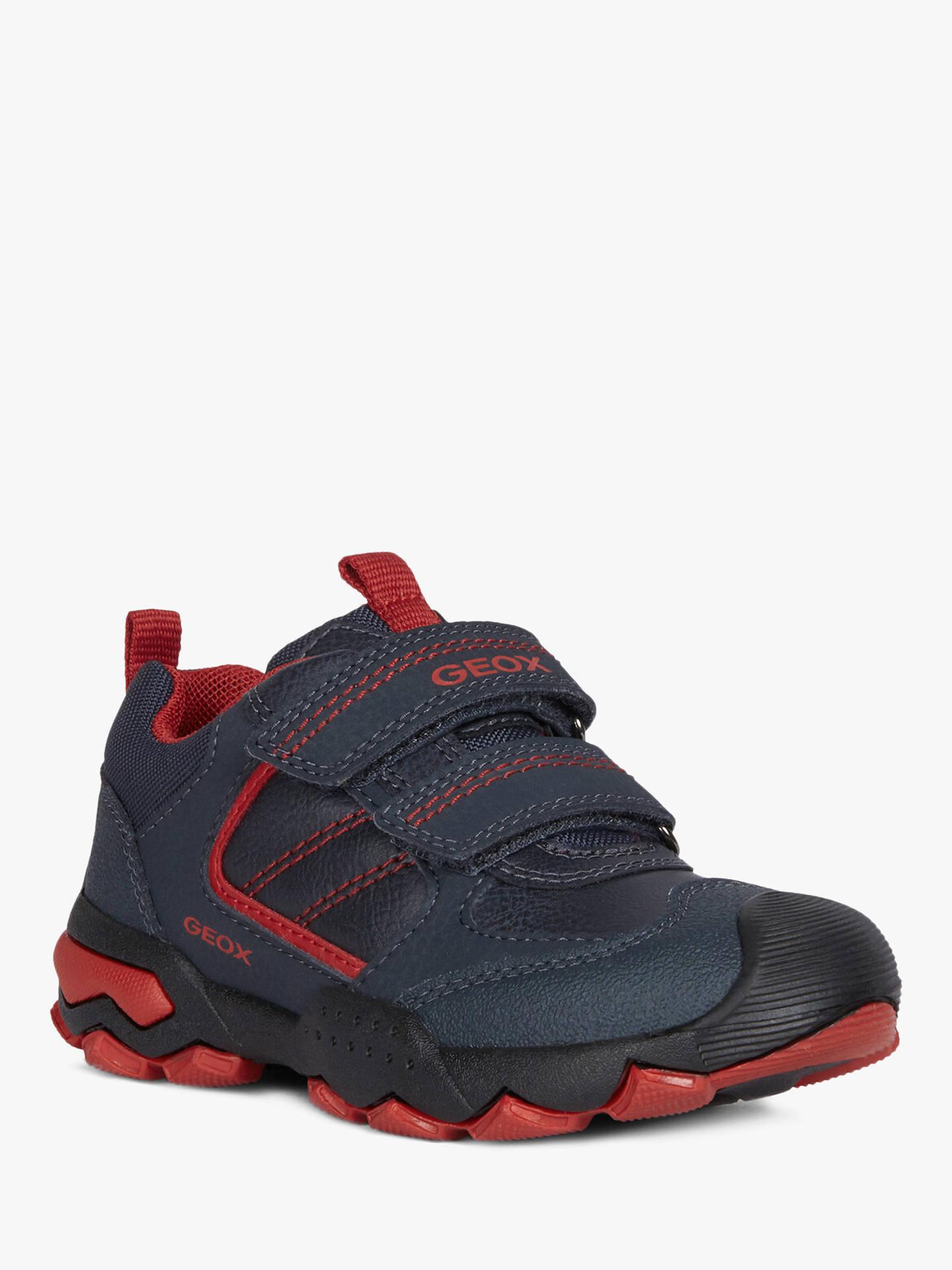 new concept b07ec ae5b2 Geox Children's Buller Shoes, Navy/Dark Red at John Lewis ...