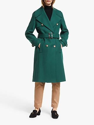 John Lewis & Partners Wool Blend Military Trench Coat