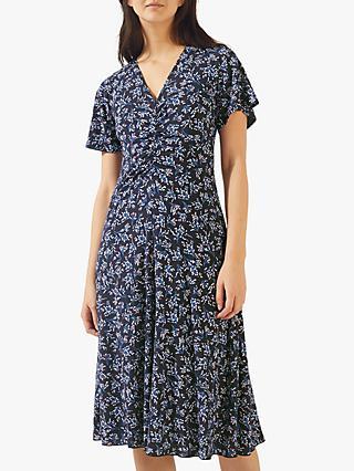 0f3da7f6db Jigsaw Sophelia Floral Print V-Neck Midi Dress