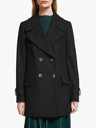 John Lewis & Partners Double Breasted Swing Pea Coat