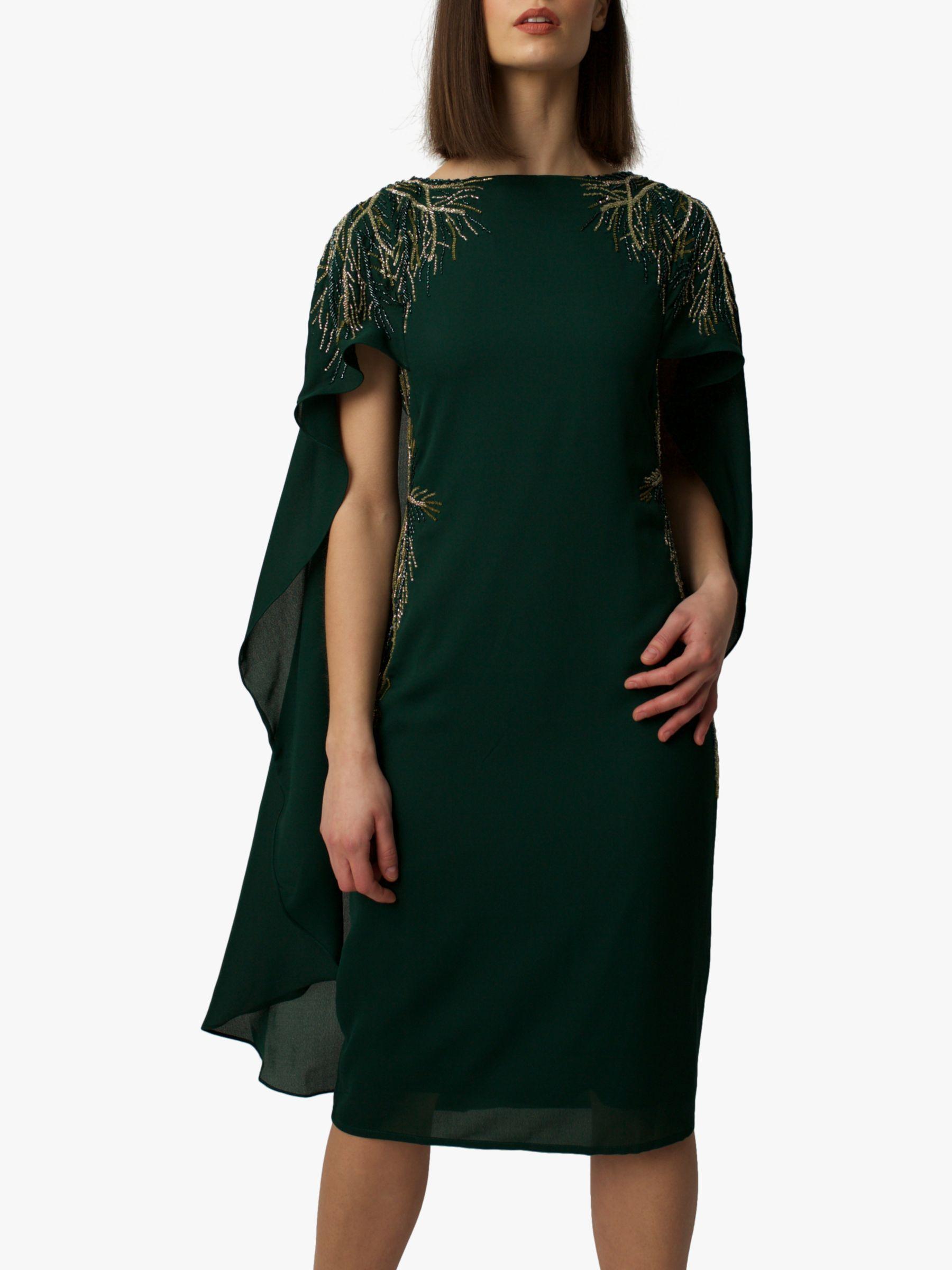 RAISHMA Raishma Cape Dress, Green