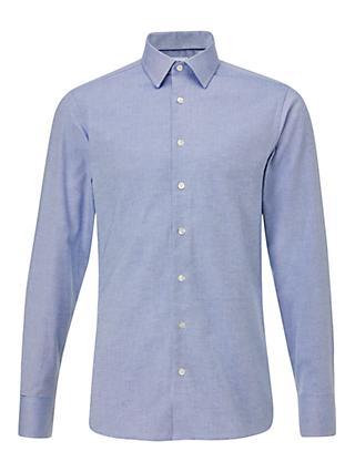 f52bc6eae913 Smyth & Gibson Melange Slim Fit Shirt, Dark Blue