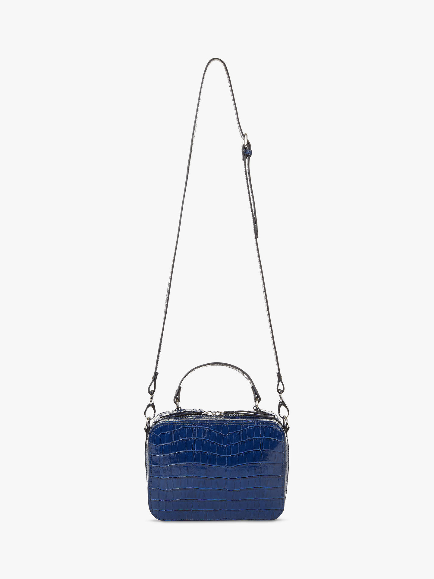 Hobbs Woodley Leather Box Cross Body Bag At John Lewis Partners