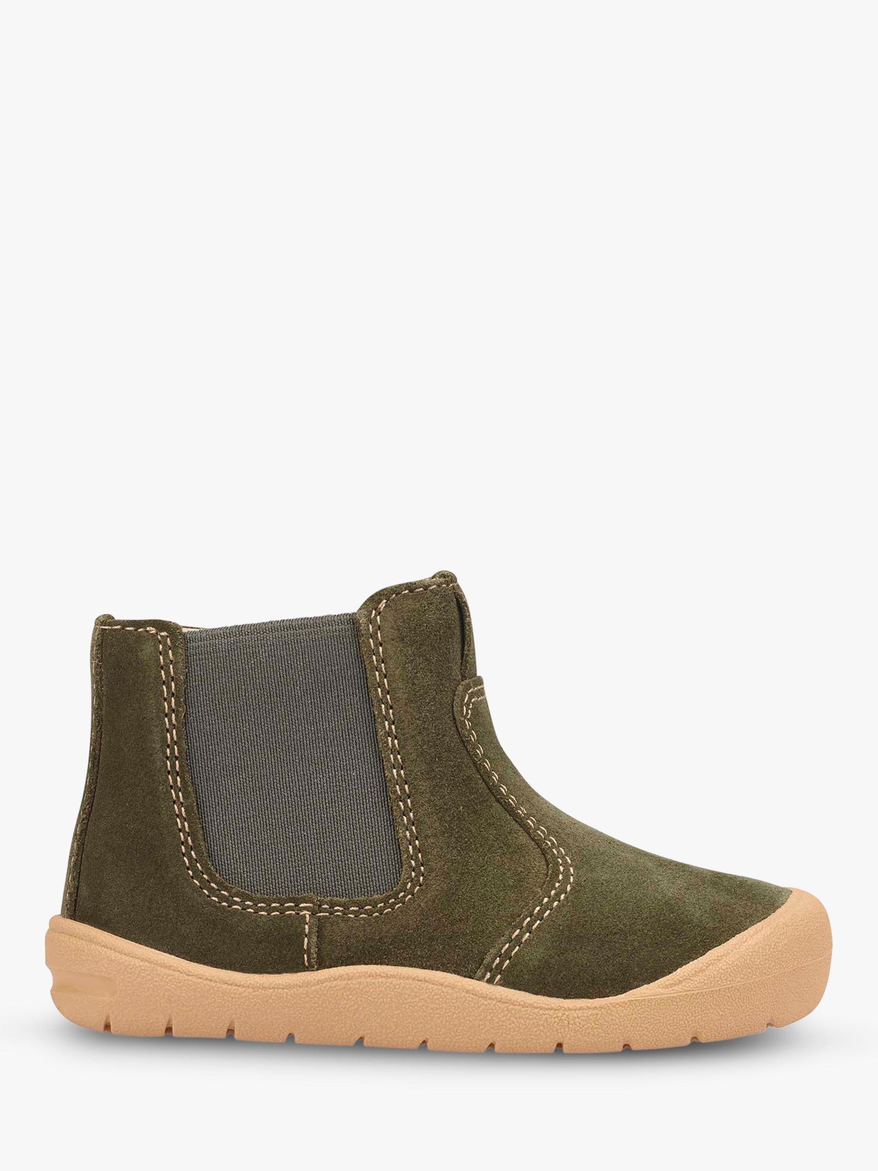 Start-Rite Start-rite Children's Leather Suede First Chelsea Boots, Khaki