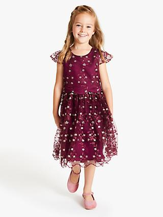John Lewis & Partners Heirloom Collection Girls' Embroidered Dress, Purple