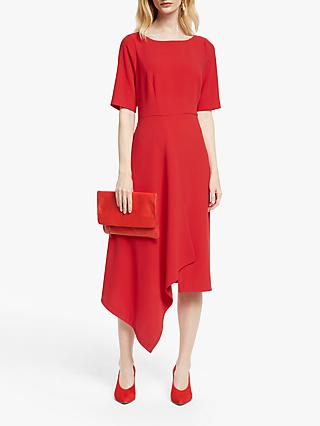 John Lewis & Partners Drape Front Dress