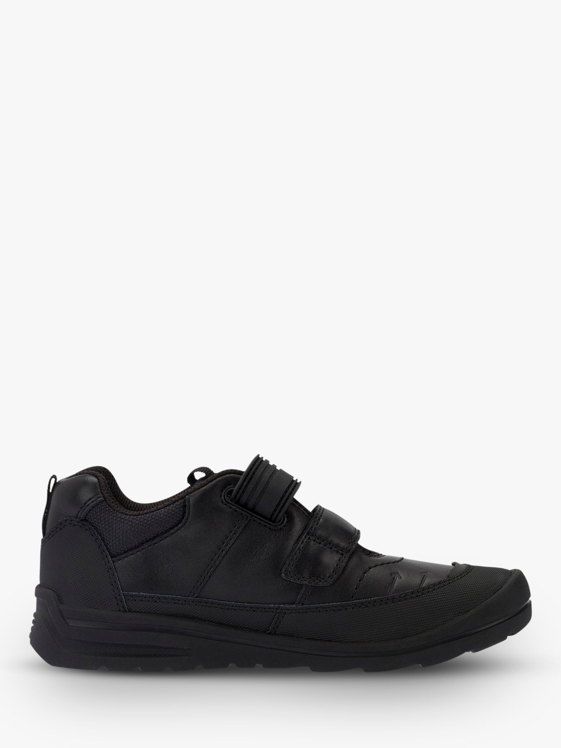 Start-Rite Start-rite Children's Bolt Riptape Leather Shoes, Black