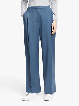 John Lewis & Partners Flannel Pleat Trousers