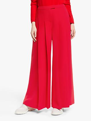 John Lewis & Partners Double Pleat Wide Leg Trousers