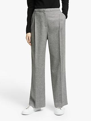John Lewis & Partners Herringbone Pleat Front Trousers