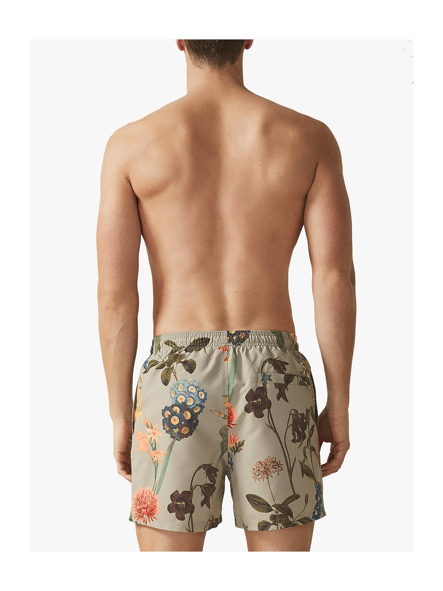 0b4651cfeb2f7 ... Buy Reiss Zimi Floral Print Swim Shorts, Sage, S Online at johnlewis.com