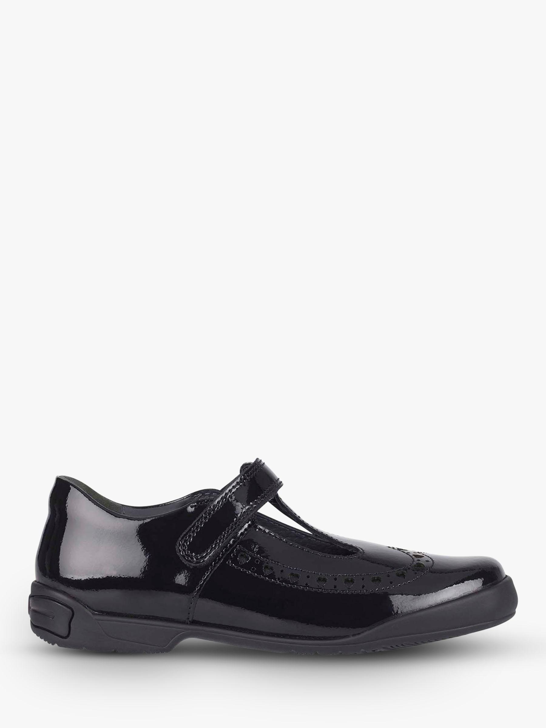 Start-Rite Start-rite Children's Leapfrog Riptape Glossy Leather Shoes, Black