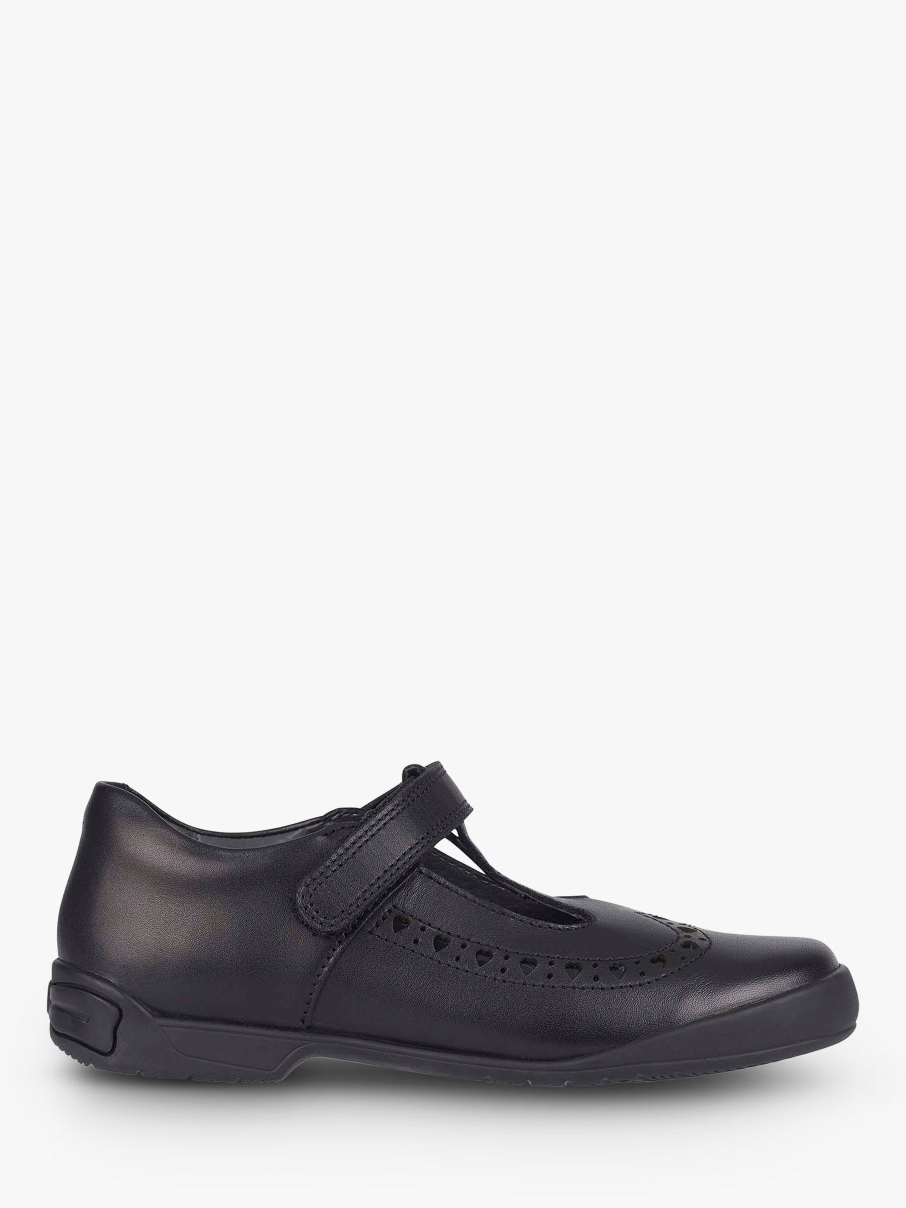 Start-Rite Start-rite Children's Leapfrog Riptape Leather Shoes, Black