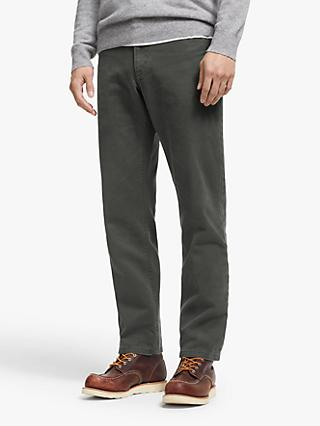 John Lewis & Partners Five Pocket Twill Straight Fit Trousers